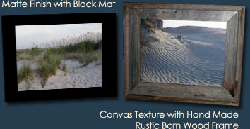 Black Mat or Rustic Frame
